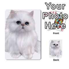 White Persian Cat Clipart Multi-purpose Cards (Rectangle)