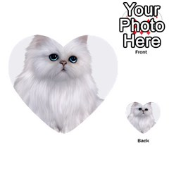 White Persian Cat Clipart Multi-purpose Cards (Heart)