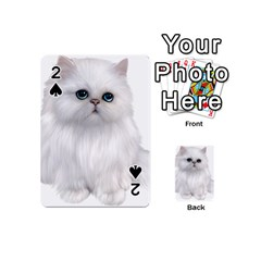 White Persian Cat Clipart Playing Cards 54 (mini)