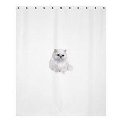 White Persian Cat Clipart Shower Curtain 60  X 72  (medium)