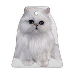White Persian Cat Clipart Bell Ornament (2 Sides)