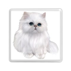 White Persian Cat Clipart Memory Card Reader (Square)