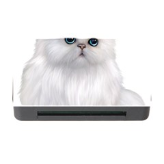White Persian Cat Clipart Memory Card Reader with CF