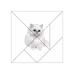 White Persian Cat Clipart Acrylic Tangram Puzzle (4  x 4 )