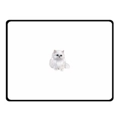 White Persian Cat Clipart Double Sided Fleece Blanket (Small)