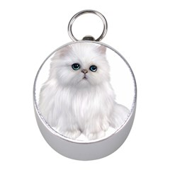 White Persian Cat Clipart Mini Silver Compasses
