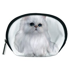 White Persian Cat Clipart Accessory Pouches (medium)
