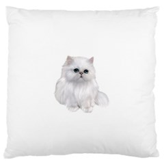 White Persian Cat Clipart Standard Flano Cushion Cases (One Side)