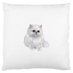 White Persian Cat Clipart Large Flano Cushion Cases (One Side)