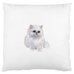 White Persian Cat Clipart Large Flano Cushion Cases (Two Sides)