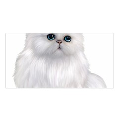 White Persian Cat Clipart Satin Shawl