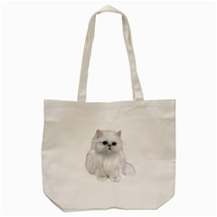 White Persian Cat Clipart Tote Bag (Cream)