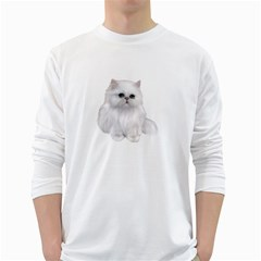White Persian Cat Clipart White Long Sleeve T-Shirts