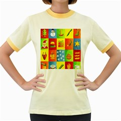 Christmas Things Women s Fitted Ringer T-Shirts