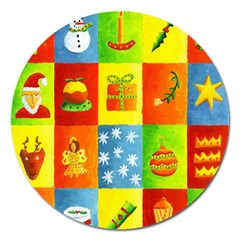 Christmas Things Magnet 5  (round)