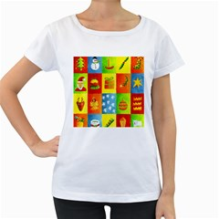 Christmas Things Women s Loose-Fit T-Shirt (White)