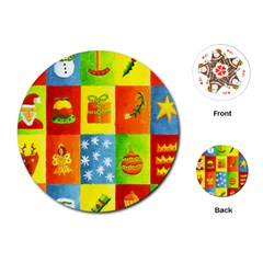 Christmas Things Playing Cards (Round)
