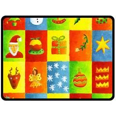 Christmas Things Double Sided Fleece Blanket (Large)