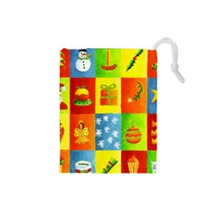 Christmas Things Drawstring Pouches (small)