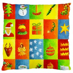 Christmas Things Large Flano Cushion Cases (one Side)