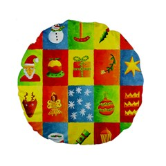 Christmas Things Standard 15  Premium Flano Round Cushions