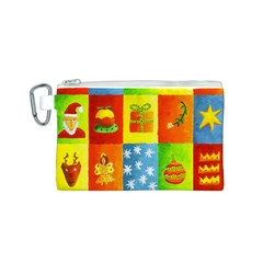 Christmas Things Canvas Cosmetic Bag (S)