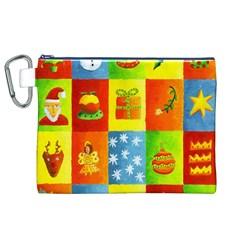 Christmas Things Canvas Cosmetic Bag (xl)