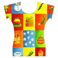 Christmas Things Women s Cap Sleeve Top