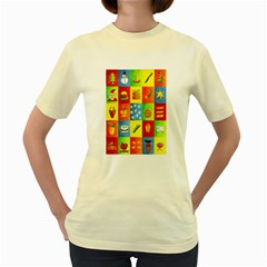 25 Xmas Things Women s Yellow T-Shirt
