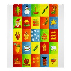 25 Xmas Things Shower Curtain 66  x 72  (Large)