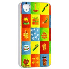 25 Xmas Things Apple Iphone 4/4s Seamless Case (white)