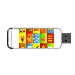 25 Xmas Things Portable USB Flash (One Side)