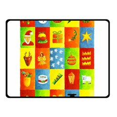 25 Xmas Things Double Sided Fleece Blanket (Small)