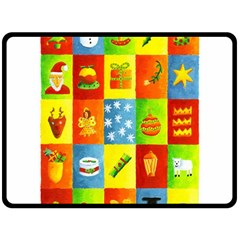 25 Xmas Things Double Sided Fleece Blanket (Large)