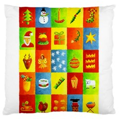 25 Xmas Things Large Flano Cushion Cases (Two Sides)