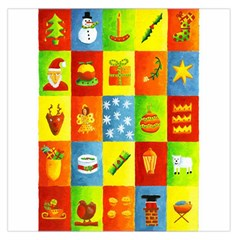 25 Xmas Things Large Satin Scarf (Square)