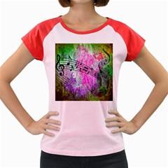 Abstract Music 2 Women s Cap Sleeve T Shirt