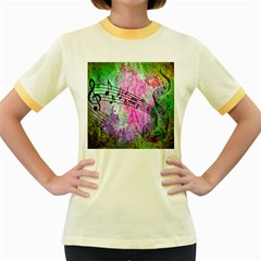 Abstract Music 2 Women s Fitted Ringer T-Shirts