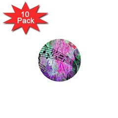 Abstract Music 2 1  Mini Buttons (10 Pack)