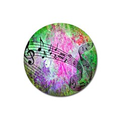 Abstract Music 2 Magnet 3  (round)