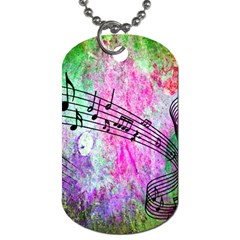 Abstract Music 2 Dog Tag (two Sides)