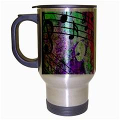 Abstract Music 2 Travel Mug (silver Gray)