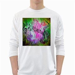 Abstract Music 2 White Long Sleeve T-Shirts