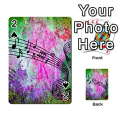 Abstract Music 2 Playing Cards 54 Designs