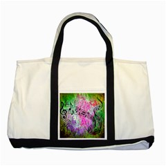 Abstract Music 2 Two Tone Tote Bag