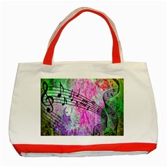 Abstract Music 2 Classic Tote Bag (red)