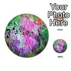 Abstract Music 2 Multi Purpose Cards (round)