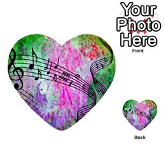 Abstract Music 2 Multi Purpose Cards (heart)