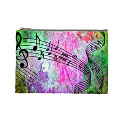 Abstract Music 2 Cosmetic Bag (large)
