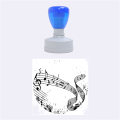 Abstract Music 2 Rubber Round Stamps (Medium)